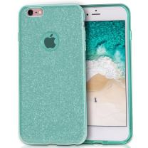 MATEPROX iPhone 6s Case iPhone 6 Case Glitter Slim Bling Crystal Clear 3 Layer Hybrid Protective Case for iPhone 6s/6 4.7 inch (Green)
