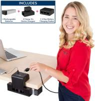 EdgePower – 3 Battery Kit – Clamp-On Portable Battery Charging Station – Cordless Power Solution for Classrooms and Offices (Pro Bundle)