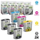 LD Remanufactured Ink Cartridge Replacement for HP 82 (3 Black, 1 Cyan, 1 Magenta, 1 Yellow, 6-Pack)