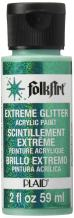 FolkArt Extreme Glitter Acrylic Paint in Assorted Colors (2 oz), 2794, Emerald Green