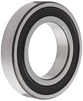 SKF 6306-2RS1/C3 Radial Bearing, Single Row, Deep Groove Design, ABEC 1 Precision, Double Sealed, Contact, C3 Clearance, Standard Cage, 30mm Bore, 72mm OD, 19mm Width