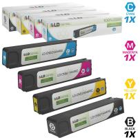 LD Remanufactured Ink Cartridge Replacements for HP 970XL & HP 971XL High Yield (Black, Cyan, Magenta, Yellow, 4-Pack)