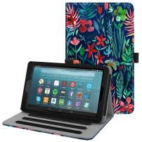 Fintie Case for All-New Amazon Fire 7 Tablet (9th Generation, 2019 Release) - [Multi-Angle] Viewing Folio Stand Cover with Pocket Auto Wake/Sleep, Jungle Night