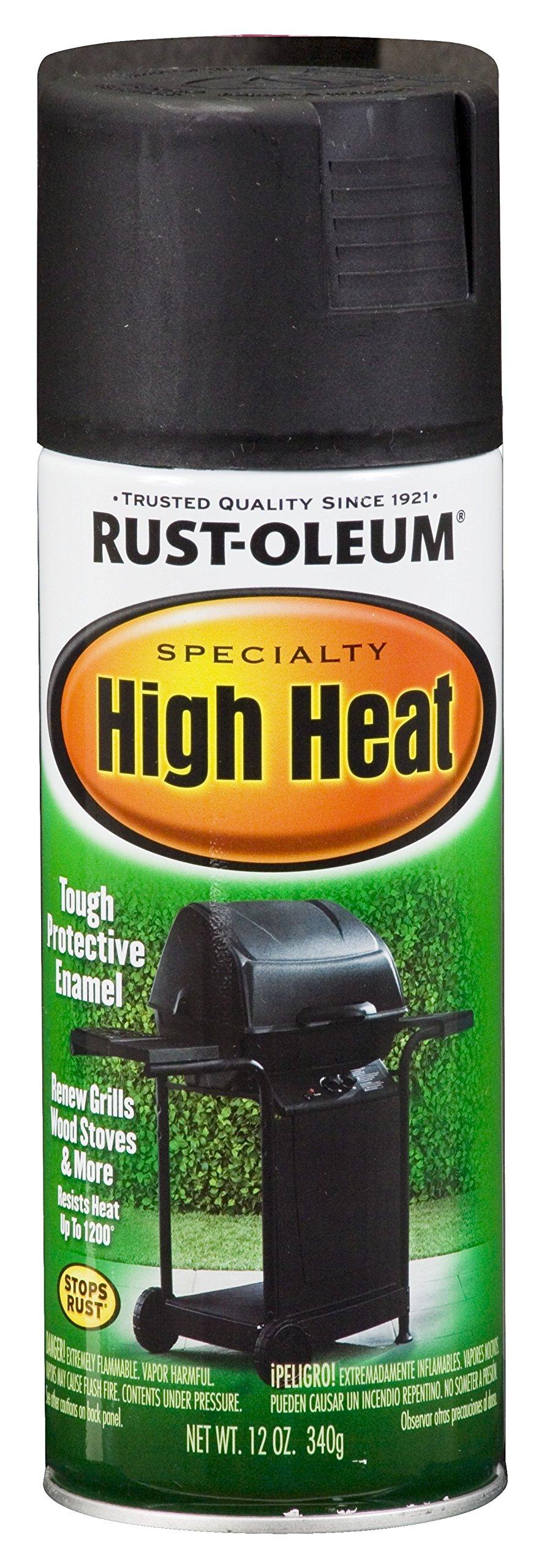 Rust-Oleum 7778830-6 PK Specialty High Heat 7778830 Bar-B-Que Spray Paint, 12 oz, Black, 6-Pack, 6 Pack