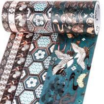 PuTwo Washi Tape, 5 Rolls Vintage Washi Tape, 8mm/10mm/30mm/50mm Washi Tapes, Decorative Tape, Cute Washi Tape, Decorative Tape, Japanese Washi Tape, Washi Tape For Journal, Decorative Tape For Crafts