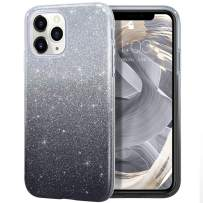 MILPROX iPhone 11 Pro Max Case, Bling Sparkly Glitter Luxury Shiny Sparker Shell, Protective 3 Layer Hybrid Anti-Slick Slim Soft Cover for iPhone 11 Pro Max 6.5 inch (2019)-Black Gradient