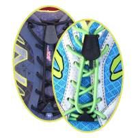 Yankz! Surelace No Tie Elastic Shoelace System with 2 Locks (Pack of 2 Pairs)