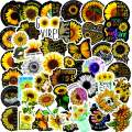 Sunflower Stickers| 50 PCS |Vinyl Waterproof Stickers for Laptop,Bumper,Water Bottles,Computer,Phone,Hard hat,Car Stickers and Decals,Teens for Adults and car Stickers for Women(Sunflower -50PCS)