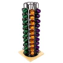 Homeries Coffee Capsule Holder (Holds 60 Carousel Capsules) - Coffee Pod Storage Rack with 360-Degree Rotation – Space Saving Coffee Pod Organizer & Storage