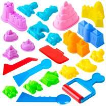 USA Toyz Sand Molds - 23pk Mini Sandbox Toys, Sand Castle Building Kit Compatible with Any Molding Sand