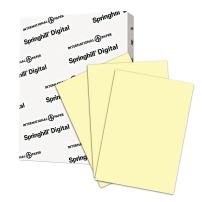 Springhill Yellow Colored Paper, 28lb Copy Paper, 104 gsm, 11 x 17 printer paper, 1 Ream / 500 Sheets - Canary Pastel Paper with Smooth Finish (024164R)