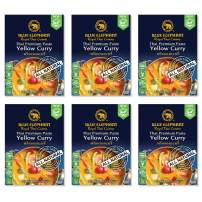 Blue Elephant Royal Thai Cuisine, Yellow Curry, Thai Premium Curry Paste, 2.4oz (Pack of 6)