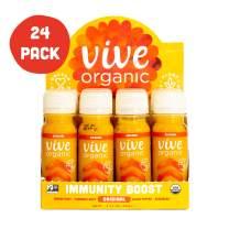 Immunity Boost Original (24 Pack) - by Vive Organic | The Ultimate Proactive Defense Combo | USDA Organic, Vegan, Cold Pressed, Ginger Root, Turmeric Root, Echinacea, Black Pepper