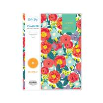 "Day Designer for Blue Sky 2020-2021 Academic Year Monthly Planner, Flexible Cover, Stapled Binding, 8.5"" x 11"", Floral Sketch (120954)"