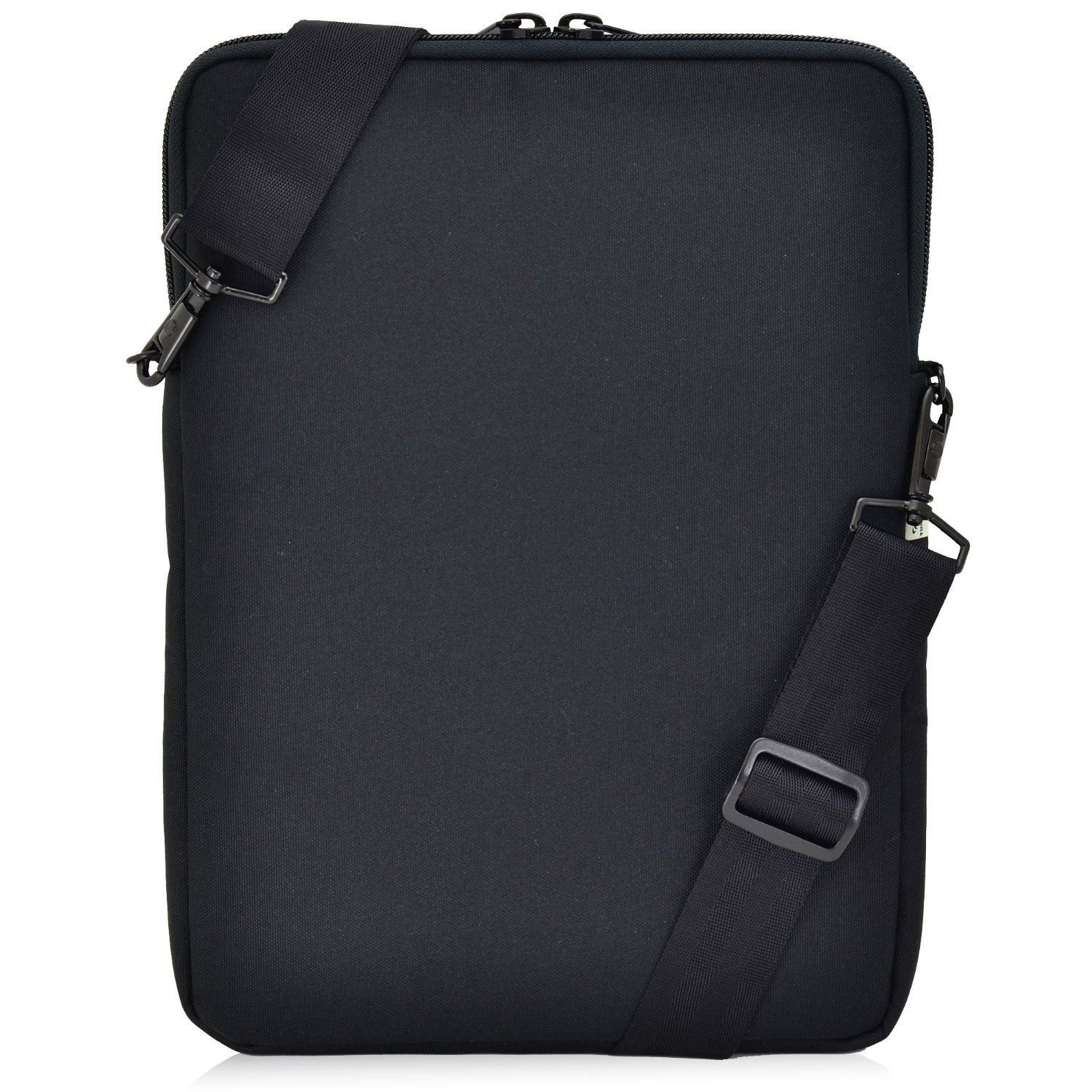 """Turtleback Universal Laptop and iPad Pro 12.9 Pouch Bag with Shoulder Strap - Fits Devices up to 13"""" Inch - (Black), Made in USA"""