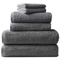 Coyuchi 6 Piece Organic Cloud Loom Towel Set, Slate