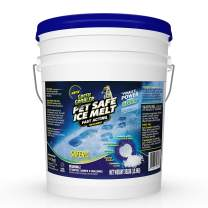 Green Gobbler Pet Safe Ice Melt Fast Acting Treatment   Magnesium Chloride Ice Melt Pellets   Pet & Plant Safe Ice Melter (15lb Pail)