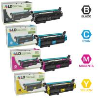 LD Remanufactured Toner Cartridge Replacements for Canon 332 II & 332 (Black, Cyan, Magenta, Yellow, 4-Pack)