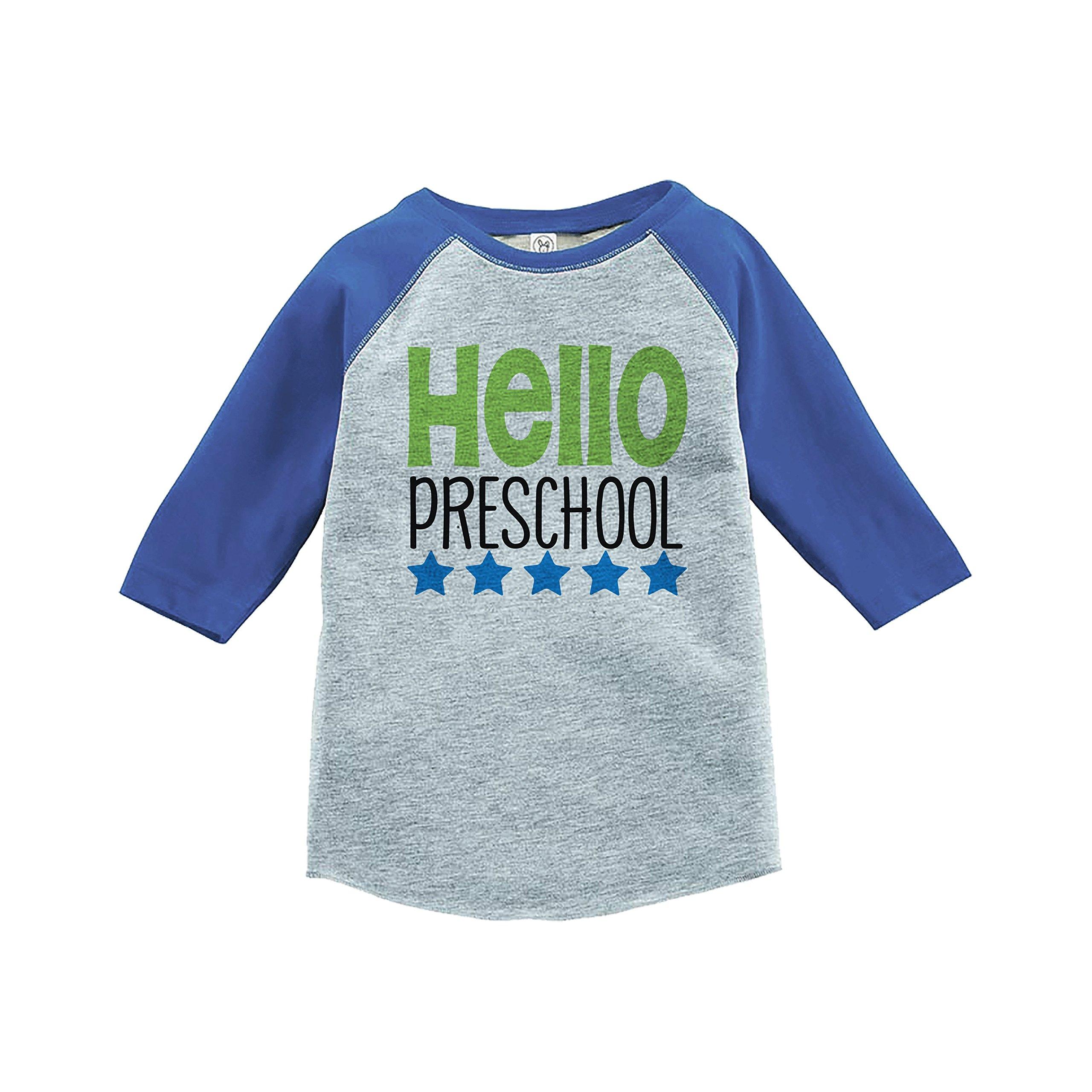 7 ate 9 Apparel Kids Hello Preschool School Shirt