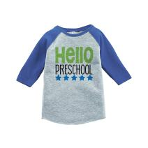 7 ate 9 Apparel Kids Hello Preschool School Shirt