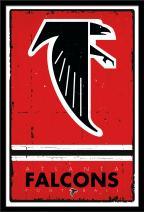 Trends International Wall Poster Atlanta Falcons Retro Logo, 22.375 x 34