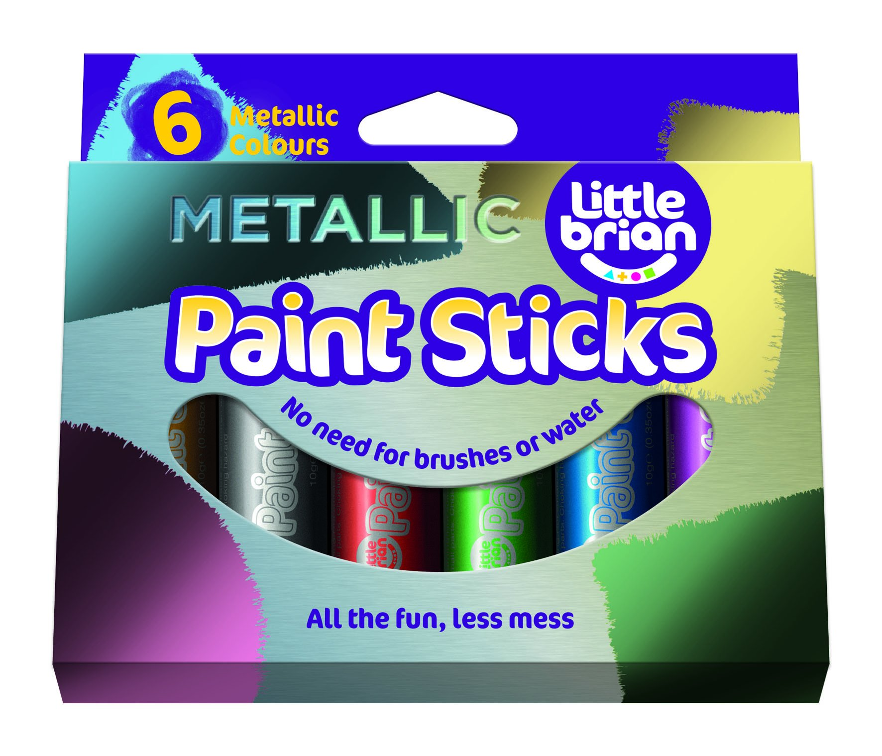 Little Brian Lbps10ma6 Metallic Colours Paint Sticks (Pack of 6)