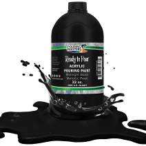 Pouring Masters Midnight Black Metallic Pearl Acrylic Ready to Pour Pouring Paint – Premium 32-Ounce Pre-Mixed Water-Based - for Canvas, Wood, Paper, Crafts, Tile, Rocks and More