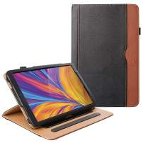 ZoneFoker All New Kindle Fire HD 10 Tablet Leather Case (9th/7th Generation,2019/2017 Released), Auto Sleep/Wake 360 Protection Multi-Angle Viewing Folio Stand Cases - Black/Brown