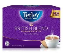 Tetley British Blend Premium Black, 80-Count Tea Bags, 7 Ounce, (Pack of 6) (Packaging may vary)