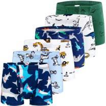 BOOPH Boys Boxer Briefs Shorts Cotton Dinosaur Robot Toddler Underwear for 2-11Y
