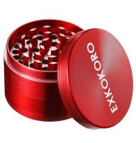 "Herb Spice Tabacco Grinders, Metal Zinc Alloy Mini Handheld Tabacco Pollen Grinder by EXKOKORO(2.5""(Red))"