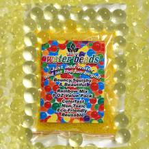 AINOLWAY 8 OZ Water Beads, Original Size Water Gel Bead Jelly Growing Balls for Kids Tactile Toys, Sensory Toys, Vase Filler (Yellow)