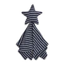 aden + anais Snuggle Knit Star Baby Lovey Comfort Item, Super Soft and Stretchy Security Blanket, Navy Stripe