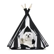United Pups Designer Pet Teepee Tent with Matching Cushion Set for Dogs