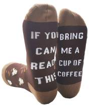 IRISGOD Novelty-Fun-Crazy-Socks for Men and Women, If You Can Read This Wine Beer Hosiery