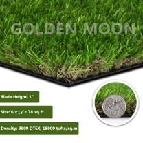 """GOLDEN MOON Artificial Grass for Dogs 1"""" 6ft x 13ft Pet Grass Puppy Potty Training Grass Pee Pad Fake Grass Mat for Garden Play Yard Autumn Grass Series"""