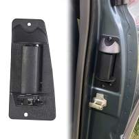 ECOTRIC Rear Door Handles Left Driver Rear Exterior Outside Outer Pickup Truck Extended Cab Pair Black Replace for Part Number 15758172