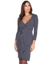 KRISP Women 3/4 Sleeve Midi Wrap Dresses V-Neck Work Wear Business Casual Party