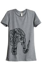 Thread Tank Artisan Elephant Women's Fashion Relaxed T-Shirt Tee Heather Grey