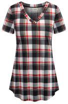 Nandashe Summer 3/4 Sleeve/Short Sleeve/Sleeveless Tunic Tops for Leggings