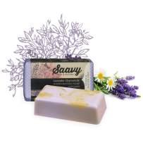 Lavender Chamomile Soap Bar | All-Natural Handmade Body Wash Bar | 2 Pack 5oz