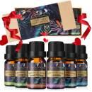 Essential Oils Set, 6 x 10 ml 100% Pure & Natural Essential Oils - Help Sleep, Calm Mood, Luckyfine Luxury Gift Box - Ideal Gift for Women/Men, Birthday, Christmas