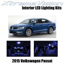 XtremeVision Interior LED for Volkswagen Passat 2015+ (9 Pieces) Blue Interior LED Kit + Installation Tool