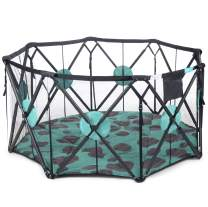 Milliard X-Large 8 Panel Playpen Portable Playard with Cushioning for Safety, for Travel, Indoor and Outdoor Play Yard Pen