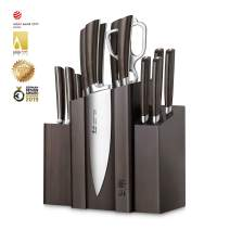 Cangshan A Series 1022285 German Steel Forged DENALI Magnetic Knife Block Set, Walnut
