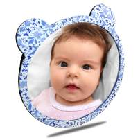 Facekyo Baby Mirror for Car | Baby Car Mirror | Baby Back Seat Mirror | Super Locking System with China Blue Printing