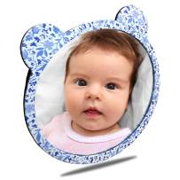Facekyo Baby Mirror for Car   Baby Car Mirror   Baby Back Seat Mirror   Super Locking System with China Blue Printing