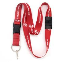Buttonsmith Marine Red Breakaway Lanyard - with Buckle and Flat Ring - Made in The USA