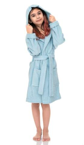 Kids Hooded Cotton Terry Pool Cover-up TowelSelections Girls Beach Cover-up