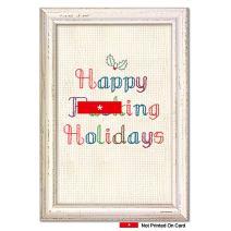 12 'Fuckin' Holidays' Blank Boxed Christmas Cards with Envelopes 4.63 x 6.75 inch, Hilarious Embroidery Christmas Notes, Sassy Needlepoint Holiday Cards, Profane Christmas Stationary B1371